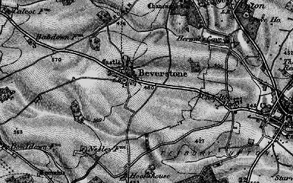 Old map of Beverston in 1897