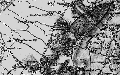 Old map of Bevington in 1897