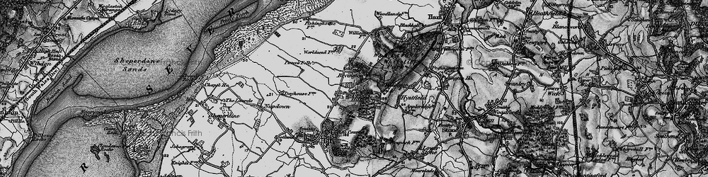 Old map of Willis Elm in 1897