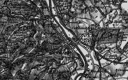 Old map of Bewdley in 1899