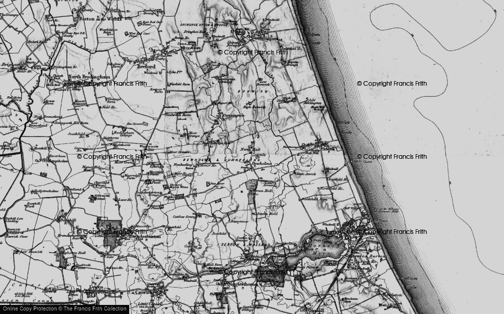 Old Map of Historic Map covering Atwick Sands in 1897