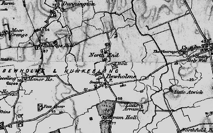 Old map of Atwick in 1897