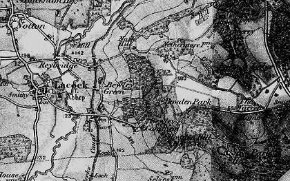 Old map of Bewley Common in 1898