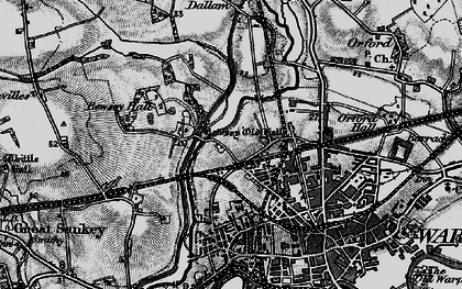 Old map of Bewsey in 1896