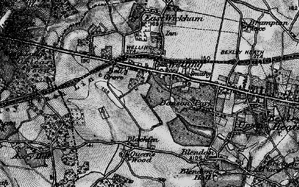 Old map of Bexley in 1896