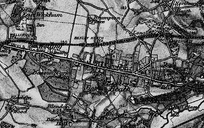 Old map of Bexleyheath in 1896