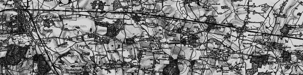 Old map of Thurston Planche in 1898