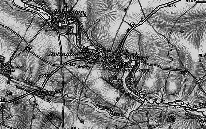Old map of Bibury in 1896