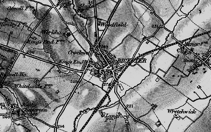 Old map of Bicester in 1896