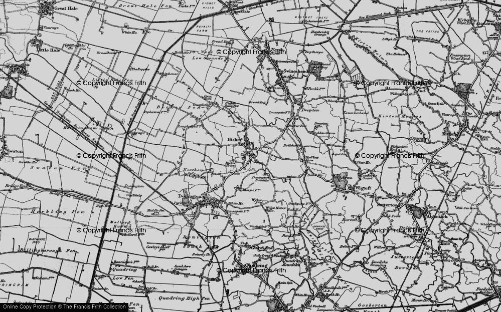 Old Map of Bicker, 1898 in 1898