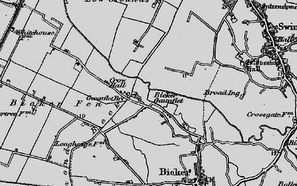 Old map of Bicker Gauntlet in 1898