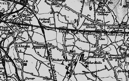 Old map of Bickershaw in 1896