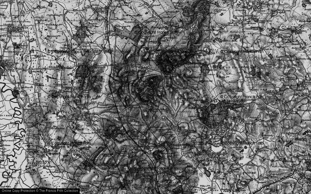 Old Map of Historic Map covering Larkton Hill in 1897