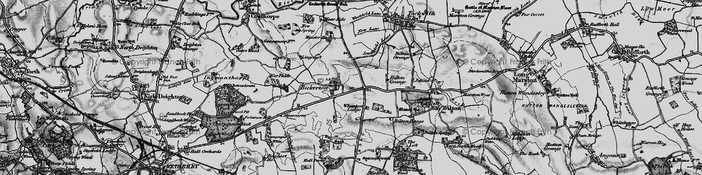Old map of Wharton Lodge in 1898