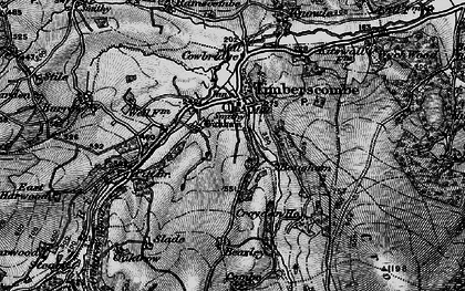 Old map of Allercott in 1898