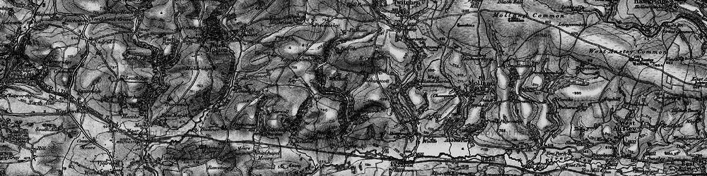 Old map of Whitcott in 1898