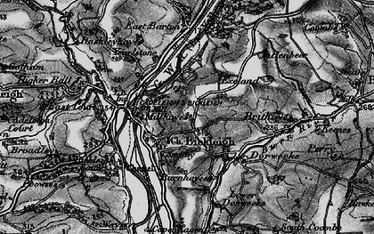 Old map of Bickleigh in 1898