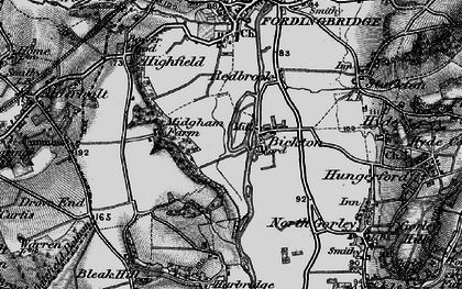 Old map of Bickton in 1895