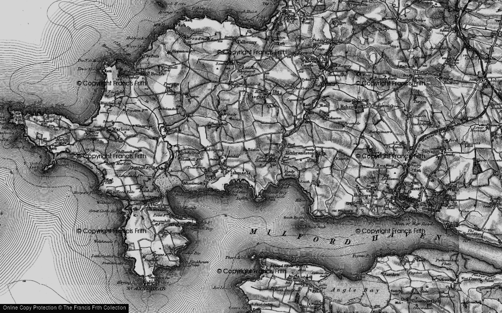 Old Map of Historic Map covering Lindsway Bay in 1898