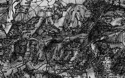 Old map of Bidborough in 1895