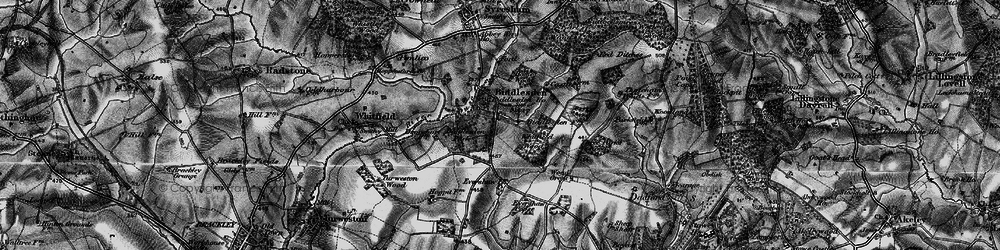 Old map of Whitfield Wood in 1896