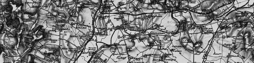 Old map of Bidford-on-Avon in 1898