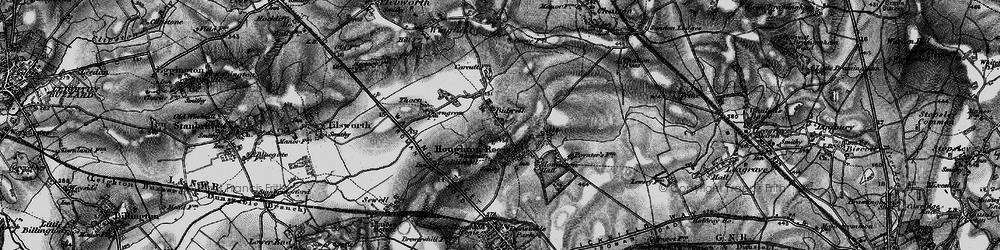 Old map of Bidwell in 1896
