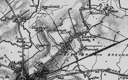 Old map of Bierton in 1896
