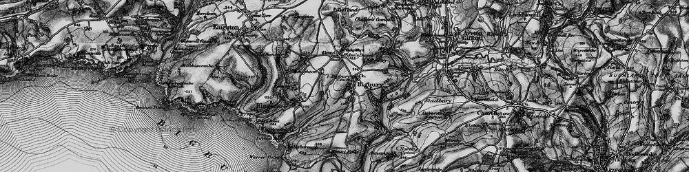 Old map of Bigbury in 1897