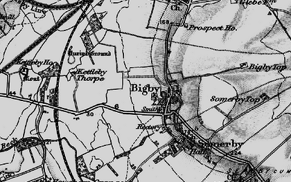 Old map of Bigby in 1895