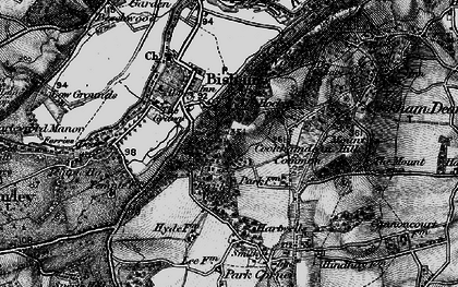 Old map of Bigfrith in 1895