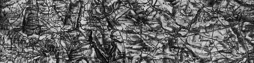 Old map of Wolfscote Hill in 1897