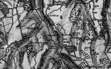 Old map of Biggin Hill in 1895