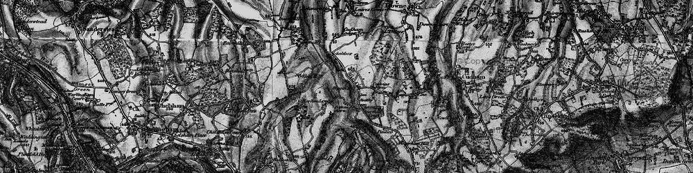 Old map of Biggin Hill in 1895