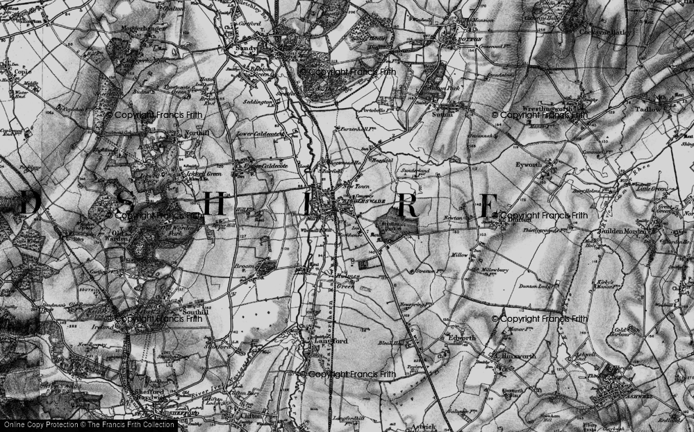 Old Map of Biggleswade, 1896 in 1896