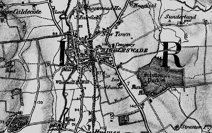 Old map of Biggleswade in 1896
