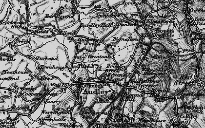 Old map of Bignall End in 1897