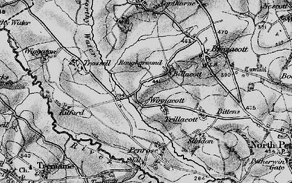 Old map of Billacott in 1895
