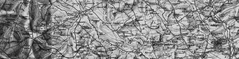 Old map of Winnacott in 1895