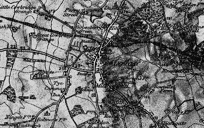 Old map of Billericay in 1896