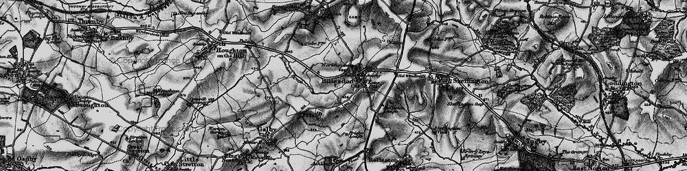 Old map of Billesdon in 1899