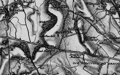 Old map of Withycombe Wood in 1898