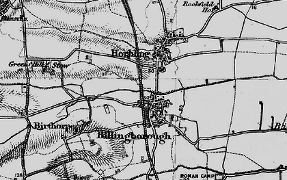 Old map of Billingborough in 1898