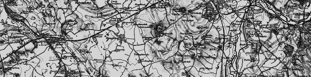 Old map of Willowmore Hill in 1897
