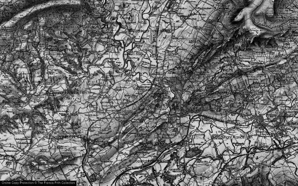 Old Map of Billington, 1898 in 1898