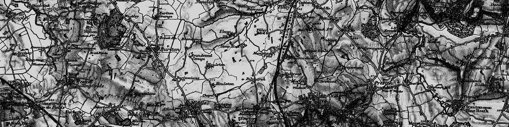 Old map of Tilley Park in 1899