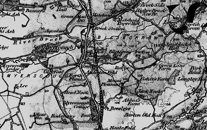 Old map of Bilsborrow in 1896