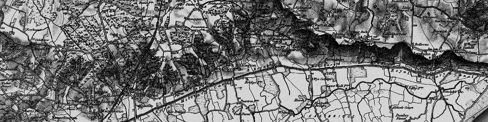 Old map of Bilsington in 1895