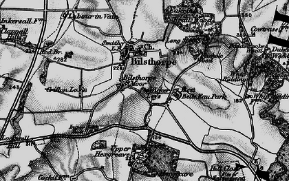 Old map of Wycar Leys in 1899