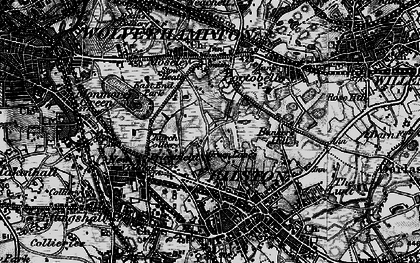 Old map of Bilston in 1899